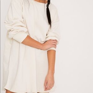 Pretty little thing taupe oversized sweater dress